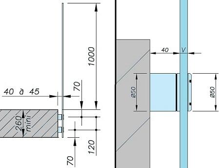 Detalle barandilla vidrio amazing barandilla q con for Detalle barandilla vidrio