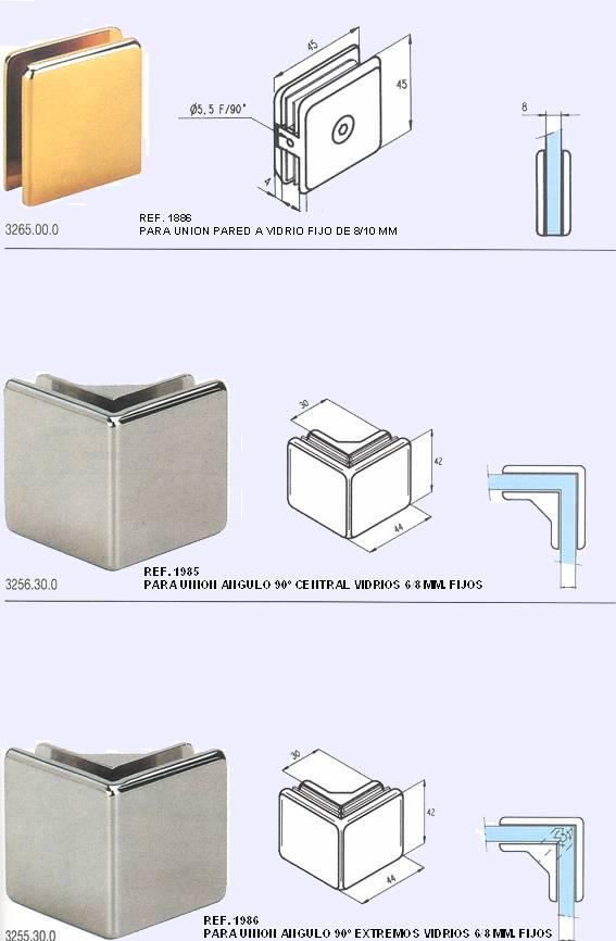 Grupo corbalan instalaciones de vidrio templado para el ba o for Herrajes para mamparas de cristal
