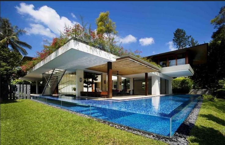 vidrio lateral para piscina